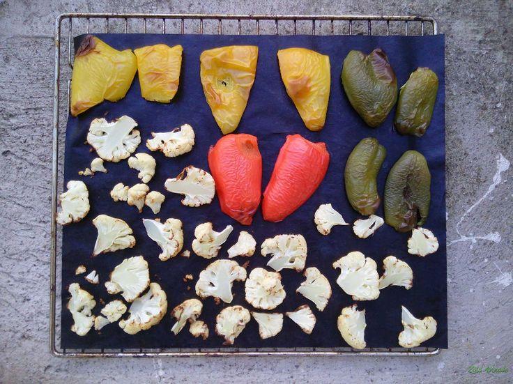 Sült paprika és sült karfiol