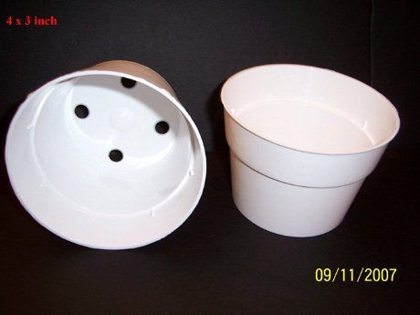 White Plastic Flower Pot 4w X 3h 12 Pack By Pjs Plants Things