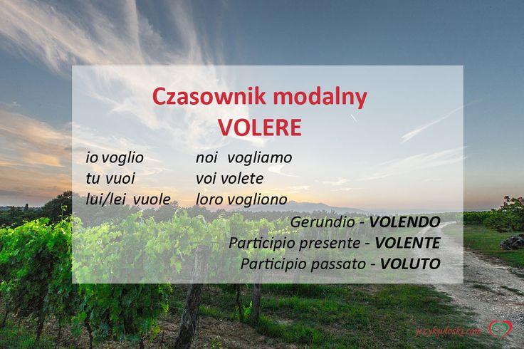 Czasownik modalny VOLERE http://jezykwloski.com/czasownik-modalny-volere/