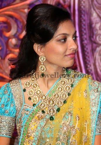 Bride Ankitha Kundan Jewellery | Jewellery Designs