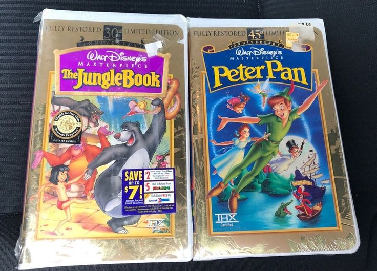 Disney Peter Pan & Jungle Book VHS Lot (New & Sealed)