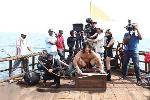 Exclusive still of the making of #kamasutra3d.