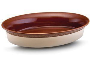 4 Quart Au Gratin in Chestnut by Paula Deen. $29.96. Warranty: Limited Lifetime. Cleaning & Care: Dishwasher Safe. Origin: China. Material: Stoneware. Size/Capacity: 4-qt.. 58173 Features: -Au gratin dish.-Material: Stoneware.-Uniquely glazed so that no two pieces are alike.-Ideal for prepping, baking, serving and reheating.-Designed for oven, microwave, refrigerator and freezer use.-Dishwasher safe.-Oven safe to 500°F.-Capacity: 4 Quarts. Color/Finish: -Color: C...