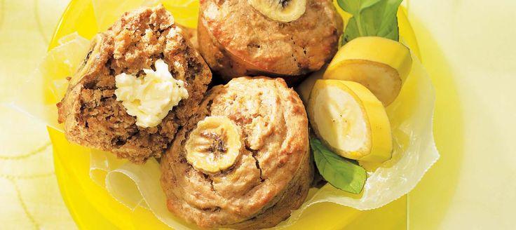 Savoureux muffins au beurre d'arachide et aux bananes