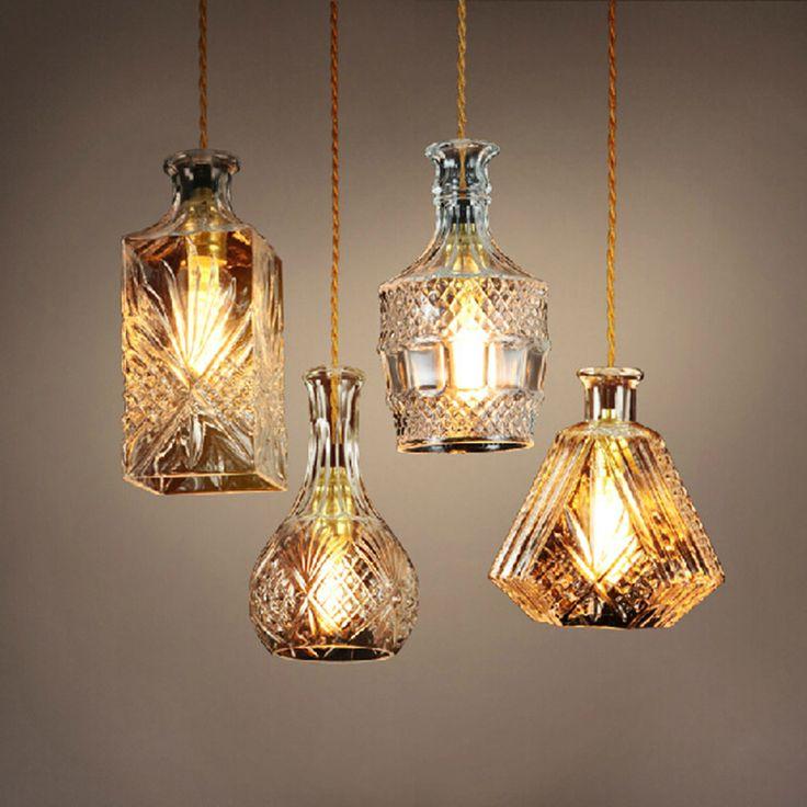 E27 edison retro vintage hanglampen glas lamshade loft hanglampen voor eetkamer licht industriële verlichtingsarmaturen(China (Mainland))