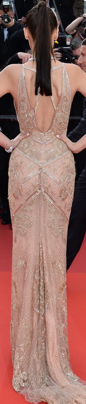 Bella Hadid  in Robetto Cavalli 2016 Cannes Film Festival via LOLO repin BellaDonnaLuxeD