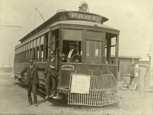 Page Avenue Streetcar at the Street Railway Curve Near Skinker Road 1904 World's Fair Entrance.