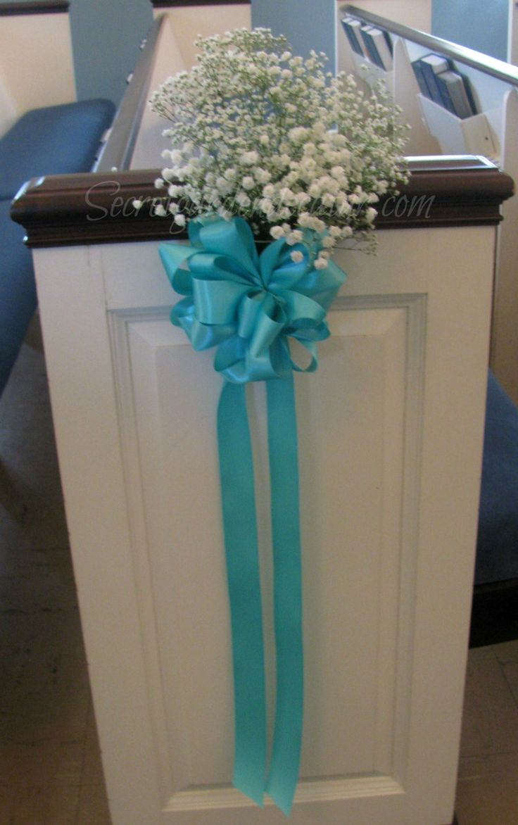 46 Best Images About Wedding Pew Decorations On Pinterest