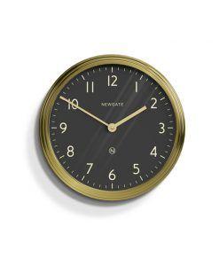 brass & black wall clock