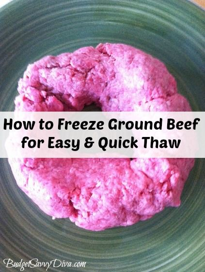 How to Freeze Ground Beef for Quicker Thaw | Food ...