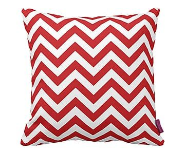 Cuscino arredo con stampa decor ZigZag rosso - 43x43 cm