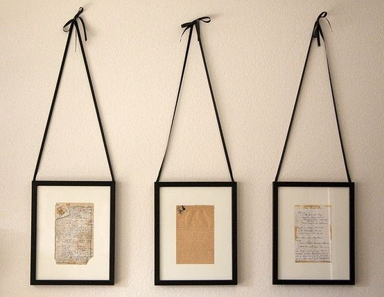 handwritten recipes framed - kitchen decor