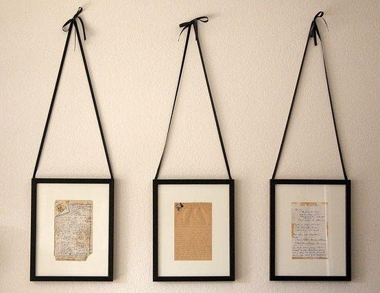 handwritten recipes framed - kitchen decor