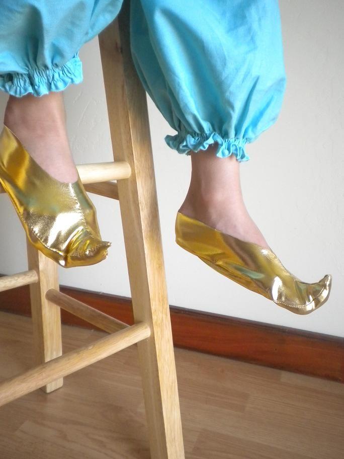 princess Jasmine shoes tutorial with pattern