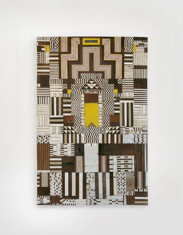 Wood collage by Richard Pearse