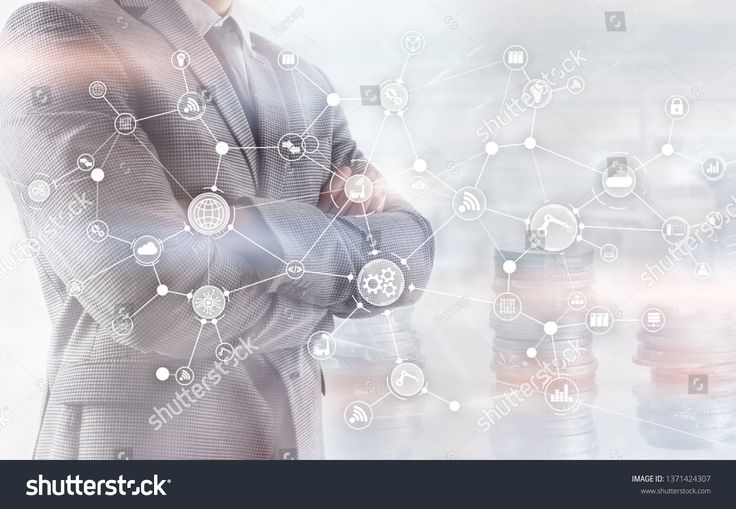 Industrial business process workflow organisation structure on virtual screen. IOT Technology smart industry concept on oins and megapolis background….