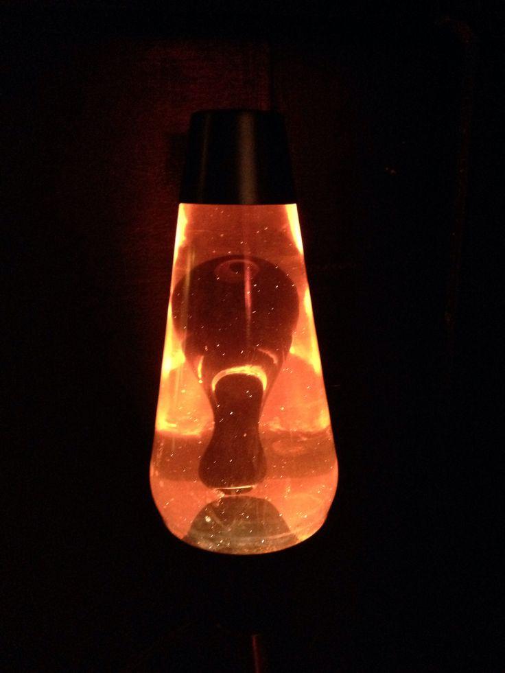 16 Inch Lava Lamp Orange Liquid Black Wax Lava Lamps