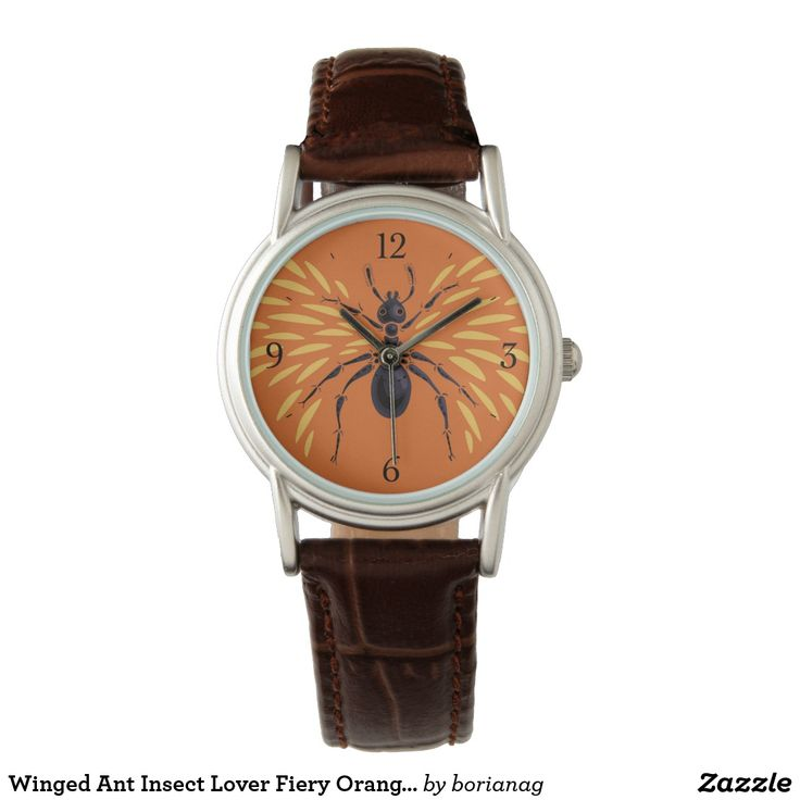 Winged #Ant #Insect Lover Fiery Orange #Entomology #Watch at #zazzle
