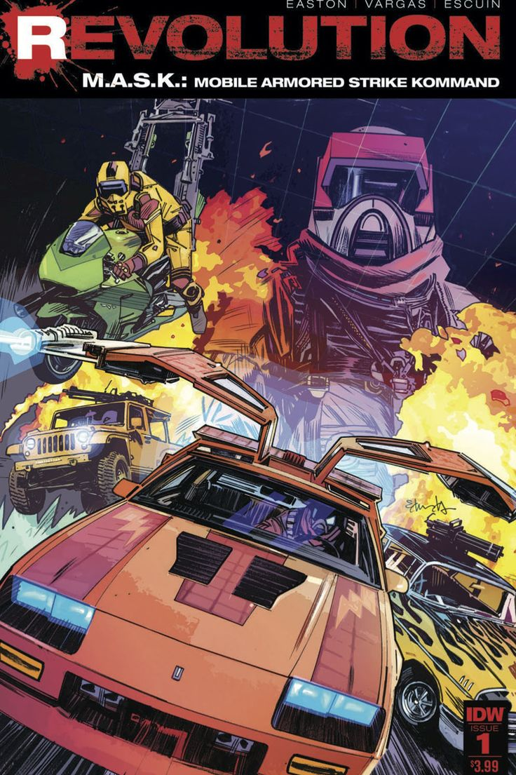 'M.A.S.K.' Returns After Almost 30 Years in IDW's 'Revolution' (Exclusive Preview)  The 1980s toy property is part of the new shared Hasbro universe that will include 'Transformers' and 'G.I. Joe.'  read more