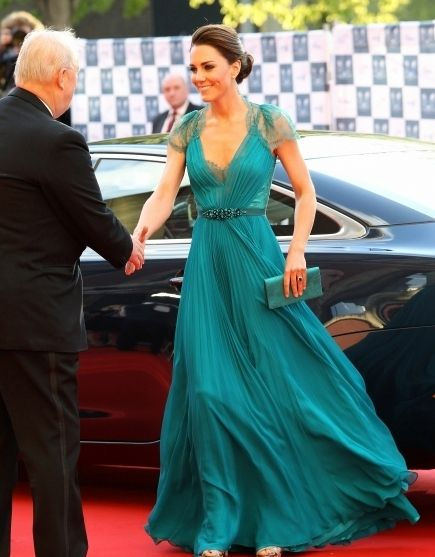Catherine, Duchess of Cambridge arrives to attend the official launch party for Team GB and Paralympics GB ahead of the London 2012 Games at Royal Albert Hall on May 11, 2012 in London, England.