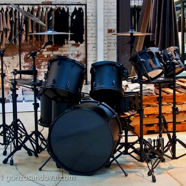 Murdered out drum set :D