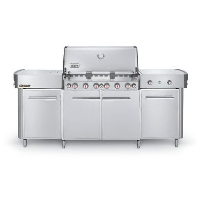 Weber Summit Center Convertible Gas Grill with Smoker Gas Type: Propane