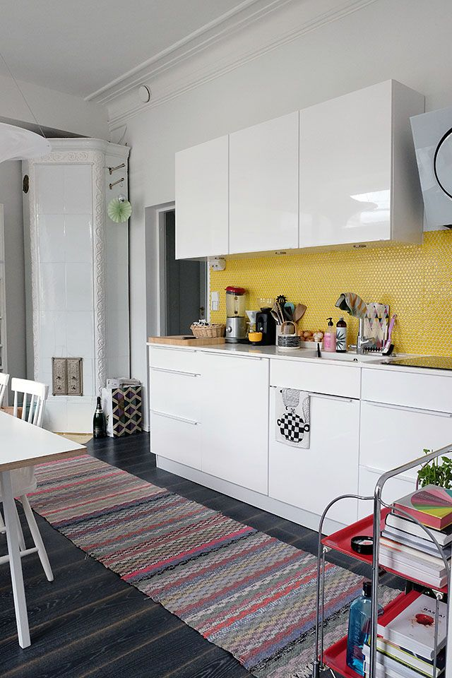 COSY HOME / Yellow kitchen tiles https://cosyhomeblogi.wordpress.com/