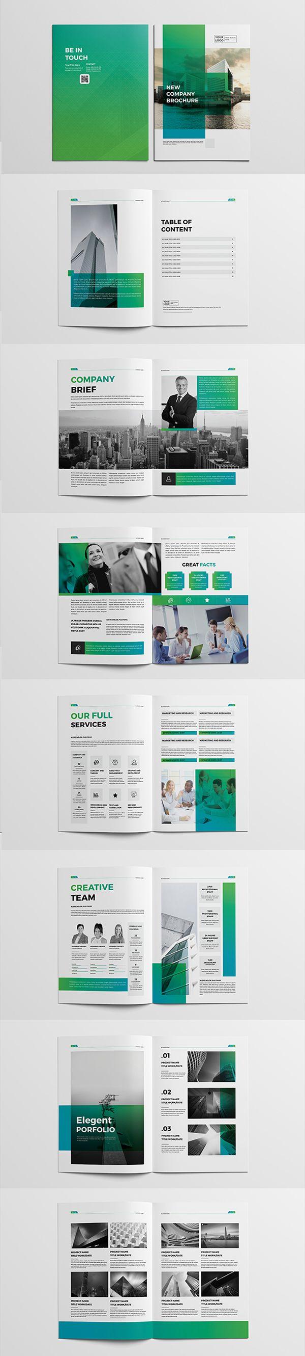 Professional Business Company Brochure #annualreport #booklet #brochuredesign #brochuretemplates #fashioncatalog #portfolio