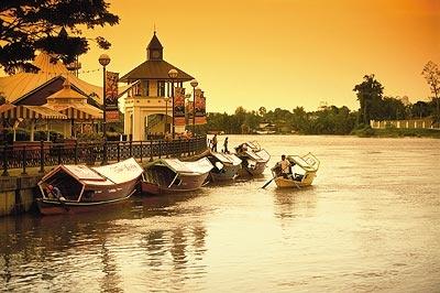 sunset in Kuching, Borneo, Sarawak   #Kuching #Borneo #Malaysia