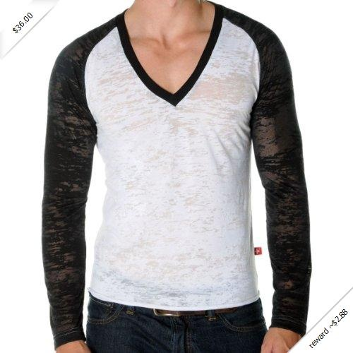Andrew Christian The Skinny Core Baseball Tee