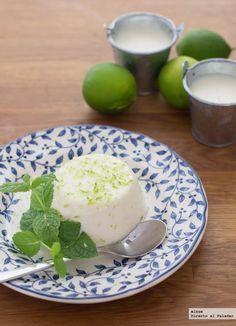 Receta de Panna Cotta de Mojito. Con fotos del paso a paso, los ingredientes y…