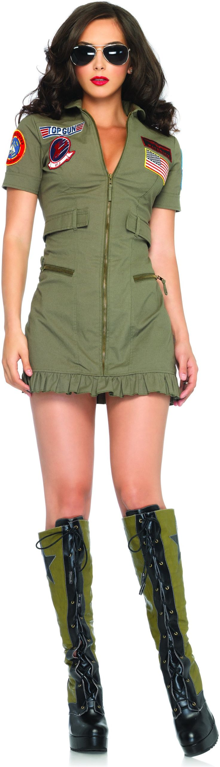 Top Gun Women's Flight Dress Adult Costume...may have to get this for a certain someone;)