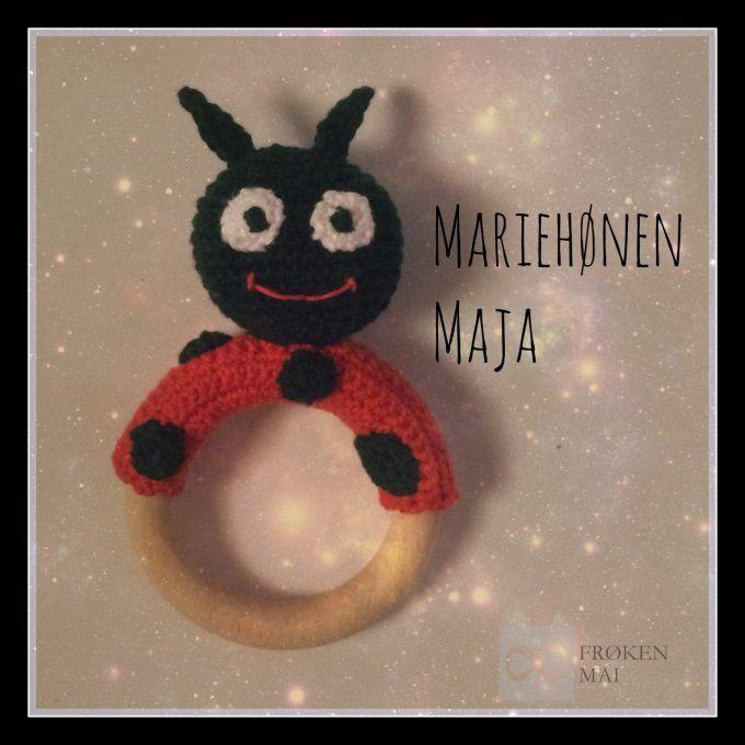 Mariehønen Maja - The Lady Bug Maya   Hæklet Rangle / Crochet Rattle