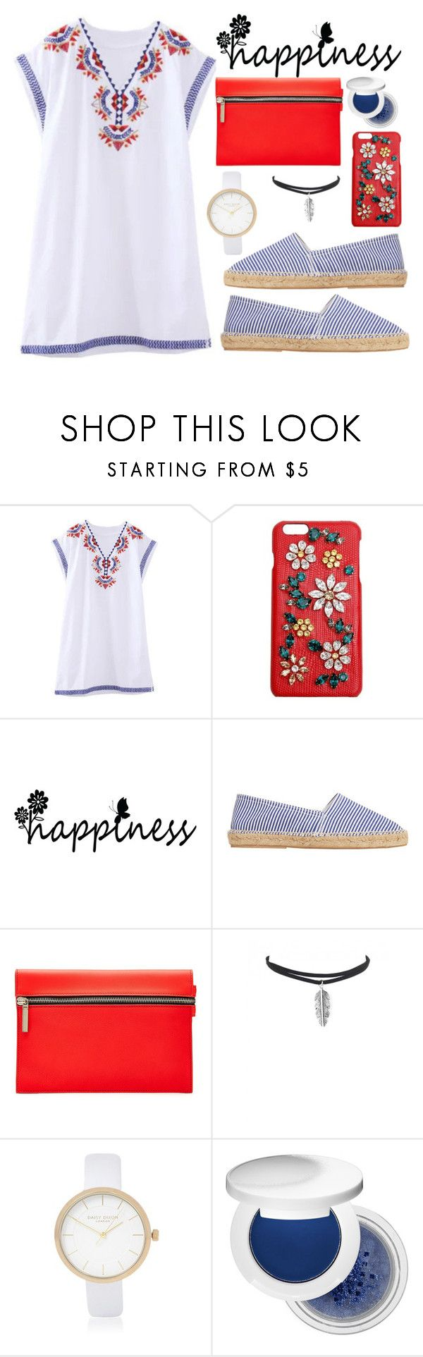 """""""Casual"""" by steviepumpkin ❤ liked on Polyvore featuring Dolce&Gabbana, MANGO, Victoria Beckham, River Island and Estée Lauder"""