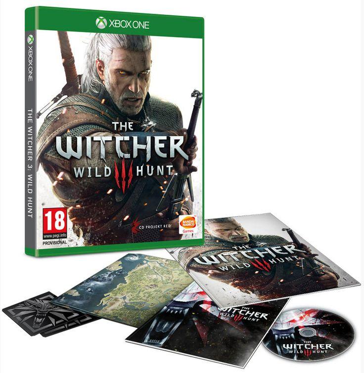 """The Witcher 3 Wild Hunt DayOne Edition Contiene: - Il gioco - Il CD della colonna sonora - """"Witcher Universe - The Compendium"""" - Una mappa del mondo di gioco - Manuale del Gioco - Un set di adesivi"""