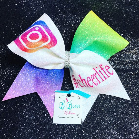 Instagram cheer bow Cheerlife bow glitter cheer bow by B3BowsMaine