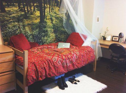 Whimsical dorm room Massachusetts College of Art and