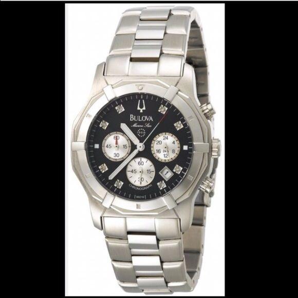 Bulova men's watch Bulova men's watch. Mens Marine star diamond watch. New with tags! Requires batteries. Bulova Accessories Watches