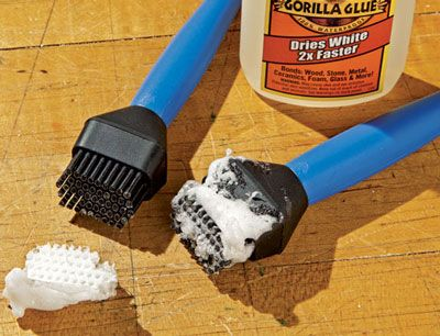 These Rockler silicone glue brushes will take care of your glue spreading needs, again and again and again.