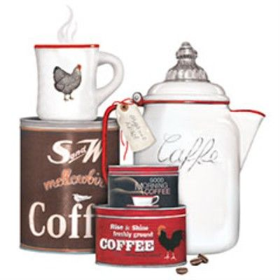 Mary Lake-Thompson Coffee Cans & Pots Towel Set