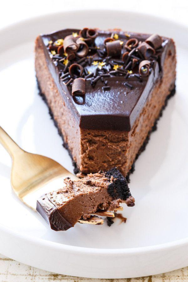 The Best and Creamiest Chocolate Cheesecake Recipe with Chocolate Ganache Glaze