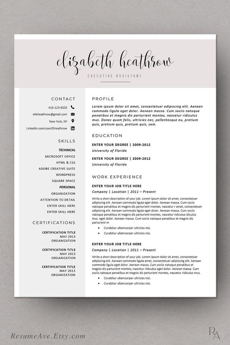 creative resume template modern resume design for word