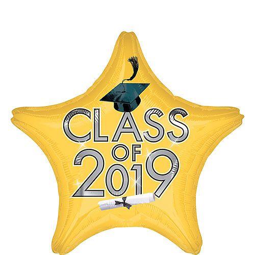 Gold Class of 2019 Graduation Star Balloon 19in