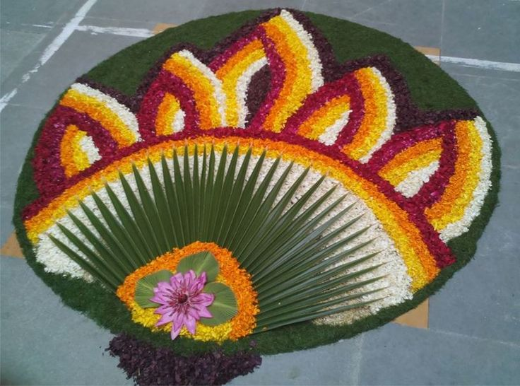 Pookalam Designs for Pongal
