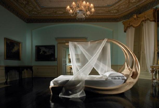 Unique Amazing Wooden Canopy Bed Design Ideas picture view