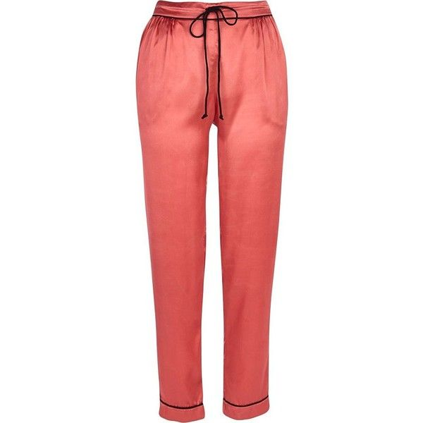 River Island Pink satin pyjama bottoms (30 BRL) ❤ liked on Polyvore featuring intimates, sleepwear, pajamas, pyjama, sale, pink pajamas, river island, satin sleepwear, satin pajama bottoms and satin pyjamas
