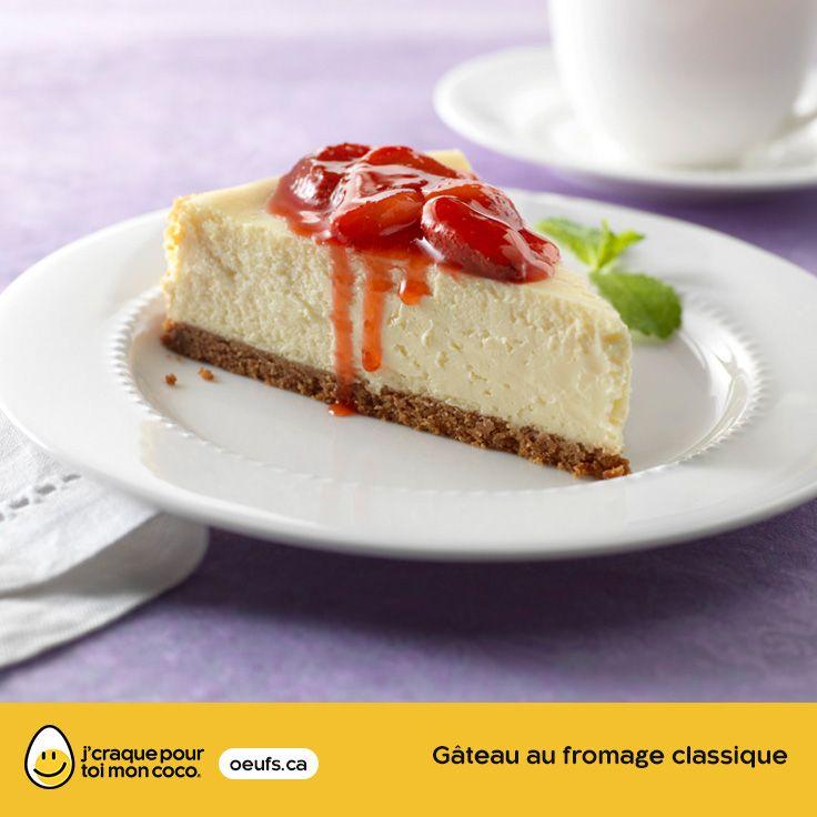 Gâteau au fromage classique | lesoeufs.ca | #Oeufs