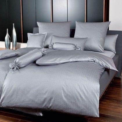 #beds #bedlinen Janine Mako-Satin Bettwäsche modern classic Karo silber Kissenbezug einzeln 40x80 cm: Janine… #mattresses #pillows