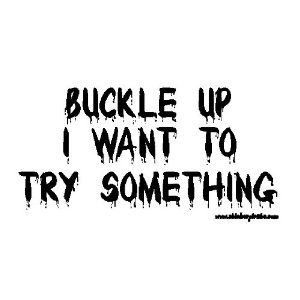 Buckle Up I Want To Try Something Offroad Bumper Sticker / Decal