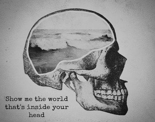 Show me the world that is inside your head.